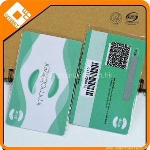 PVC plastic barcode cards with scatch off