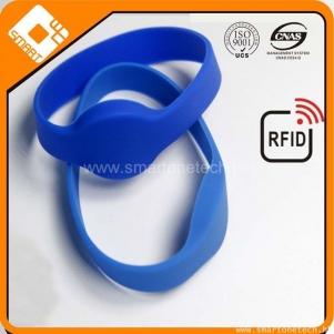 RFID silicone wristband, smart ID/IC silicone bracelet, OEM customized RFID wristband