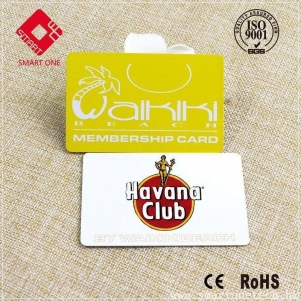 CYMK Printing Plastic PVC Card M1 membership yellow Cartoon Card