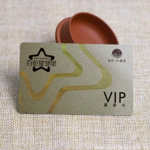 Custom Printing Plastic VIP Card With Laser Foil Stamping