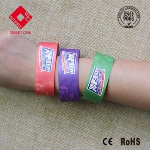 Top quality13.56MHZ Ultralight nfc sticker for Paper Wristband RFID One time used wristband