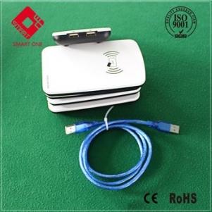 ISO18000-6C UHF Reader Double USB UHF RFID Desktop Reader