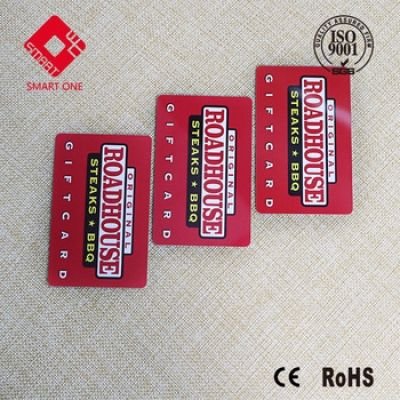CYMK Plastic Smart Card with Hi-co/Low-co magnetic strip for membership card