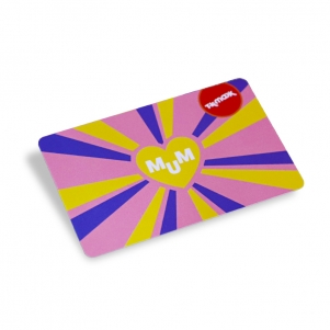 Glossy Plastic Gift Card With Personalized UV Barcode