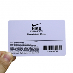 Shoe Store Membership Plastic Card With UV Barcode