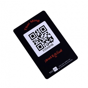 Custom Plastic Card With UV QR Code