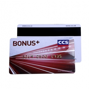 Plastic Magnetic Stripe Card With Gold Embossed Code