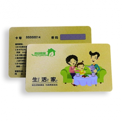 PVC CR80 glossy finish scratch cards with gold powder