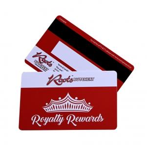 Plastic Reward Card With Black Magnetic Stripe