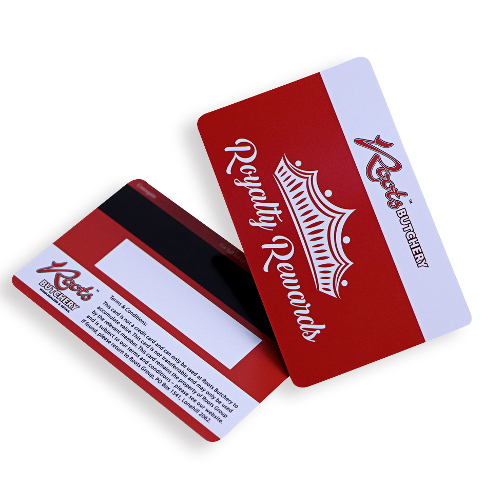 plastic card with magnetic stripe