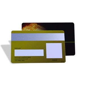 Gold Foil Plastic Card With Silver Magnetic Stripe