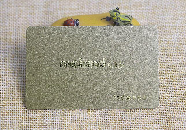 gold power plastic card