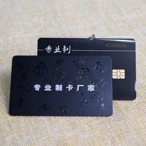 Spot UV Printing Contact IC Card With Gold Embossed Number