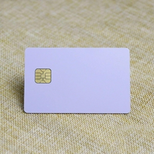 Contact Printable Blank White Plastic Card With Smart Chip