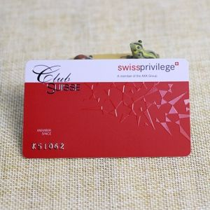 Personalized printable embossed number non-contact chip card
