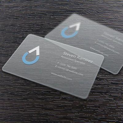 Factory Customized Clear Plastic Spot UV Transparent Card