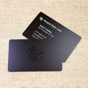 Rounded Corner Spot UV Frosted Finish PVC Business Card