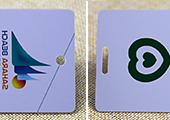 pvc membership cards with hole/slot punching