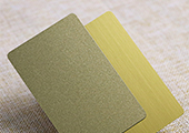 plastic business card with gold/silver powder