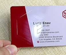 pvc business card with glossy finish