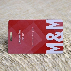 High Quality Printable Business Card With Punching Slot