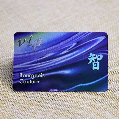 Customized Silver Metal Label Laser Stored Value Card