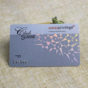 Laser Foil Membership Card With Silver Embossed Number