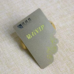 Die Cutting PVC Custom Shaped Laser Foil VIP Card