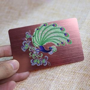 Customizable PVC Rose Gold Brushed Relief Card