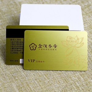 Custom Printed Club Gold Brushed VIP Card With Laser Code