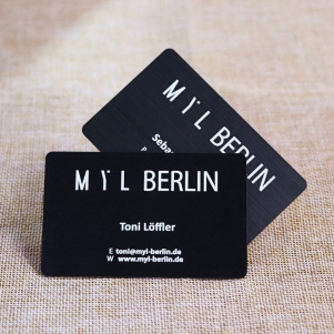 High Quality Printable PVC Black Brushed Business Card