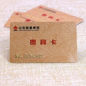 Gold Embossed Number PVC Membership Card With Gold Magnetic Stripe