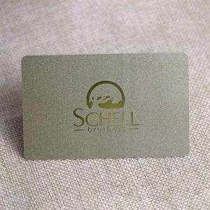 Custom Printable Gold Foil Stamping PVC Membership Card