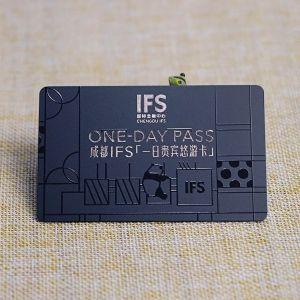 Foil Stamped Black PVC Spot Gloss One-Day Membership Card
