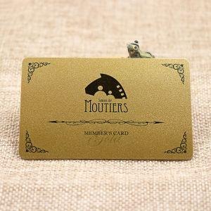 Gold Metallic Membership Card For Cafe Bar