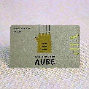 Membership Card With Gold Metal Label