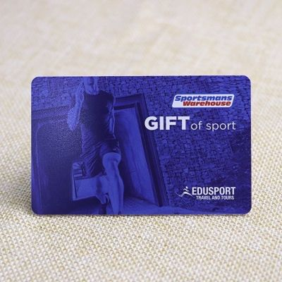 Outdoor Sports Store Gift Card Printing With Barcode