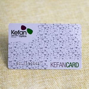 Customized Gift Card With Silver Embossed Number