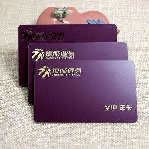 Gold Foil Stamping PVC Fitness VIP Card
