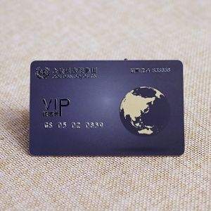 Custom VIP Card With Silver Embossed Number