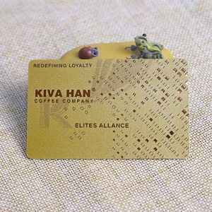 Rose Gold Foil Stamping Plastic Loyalty Card