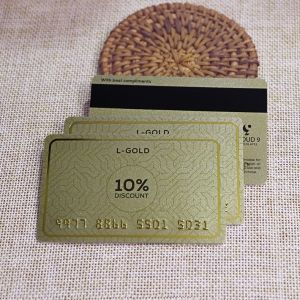 Gold Power Loyalty Card Printing With Magnetic Stripe