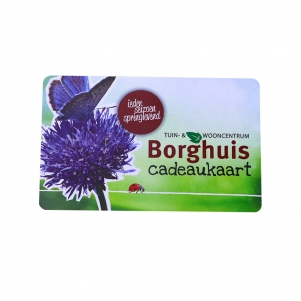 Flower Shop Gift Card Printed With Glossy Finish