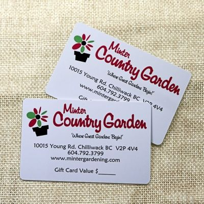 Garden Gift Card Printing With Factory Price