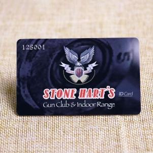 Membership Club ID Card Printed With Silver Embossed Number