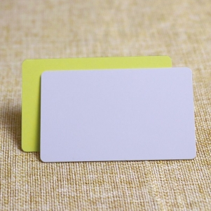 CR80 Standard Printable Blank White PVC Sticker Card