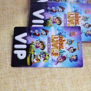 Die Cut VIP Card Printed With Slot Punching