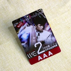 Die Cut Concert VIP Ticket Card