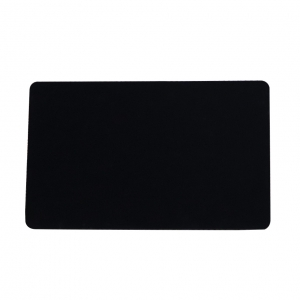 Glossy Finish Blank Black Plastic Card