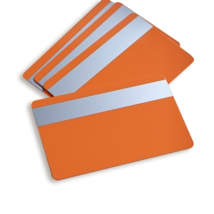 Blank Colored PVC Card With Silver Magnetic Stripe